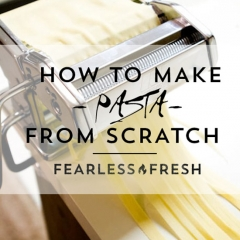 How to Make Fresh Pasta Using A Pasta Maker