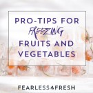 How to Freeze Vegetables: Help, My Freezer Ate My Veggies!